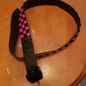 Pink/Black Studded belt